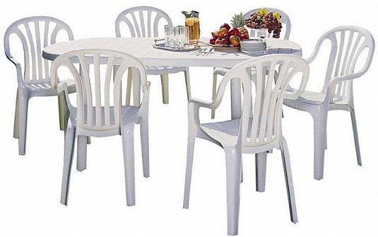 מתוחכם גרדן סייל - Gardensale - שולחן הרמוני + 6 כסאות GI-49